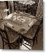 Vintage Domino Table Metal Print