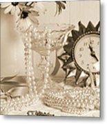 Vintage Dressing Table Metal Print