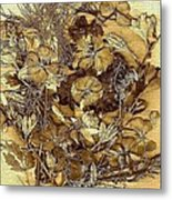 Vintage Flowers For You Metal Print