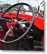 Vintage Ford - Steering Wheel... Controls - Circa 1920s Metal Print by Kaye Menner