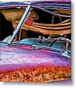 Vintage Frazer Front Window Auto Wreck Metal Print