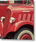 Vintage French Delahaye Fire Truck  Metal Print