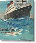 Vintage French Line Travel Poster Metal Print