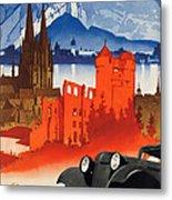Vintage Germany Travel Poster Metal Print