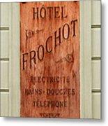 Vintage Hotel Sign 3 Metal Print