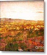 Vintage  Landscape Florence Italy Metal Print