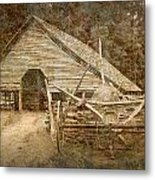 Vintage Looking Old Barn In The Great Smokey Mountains Metal Print