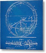 Vintage Monocycle Patent Artwork 1894 Metal Print by Nikki Marie Smith