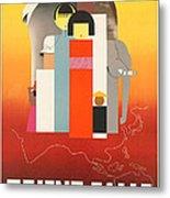 Vintage Oriental Tourist Conference Poster Metal Print
