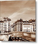 Vintage Paris 8 Metal Print by Andrew Fare