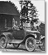 Vintage Photo Of Men In Truck Metal Print