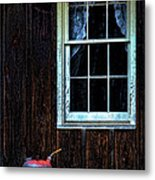 Vintage Porch Window And Gas Can Metal Print