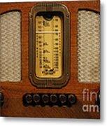 Vintage Radio Metal Print