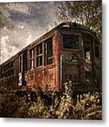 Vintage Rail Car Metal Print