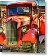 Vintage Red Dodge Metal Print