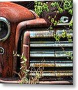 Vintage Rusty Dusty Gmc Graveyard Truck Metal Print