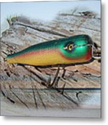 Vintage Saltwater Fishing Lure - Masterlure Rocket Metal Print