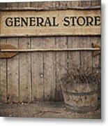 Vintage Sign General Store Metal Print by Jane Rix