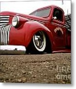 Vintage Style Hot Rod Truck Metal Print