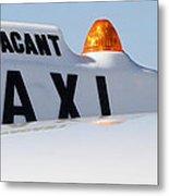 Vintage Taxi Metal Print