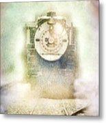 Vintage Train Engine Metal Print