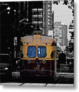 Vintage Trolley Metal Print