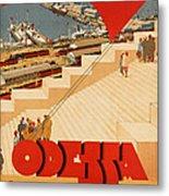 Vintage Ukraine Travel Poster Metal Print