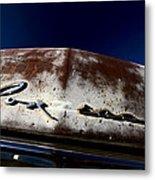 Vintage Vehicle Left To Rust In Readlyn Saskatchewan Metal Print