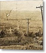 Vintage View Of Ontario Fields Metal Print