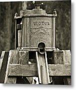 Vintage Water Pump Metal Print