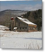 Vintage Weathered Wooden Barn Metal Print