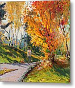 Viola In A Nice Autumn Day  Metal Print