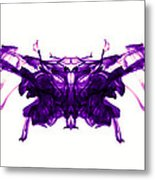 Violet Abstract Butterfly Metal Print