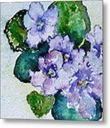 Violet Cluster Metal Print