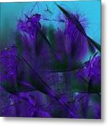 Violet Growth Metal Print