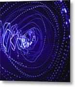 Violet Neon Lights 2 Metal Print