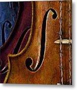 Violin Composition Metal Print