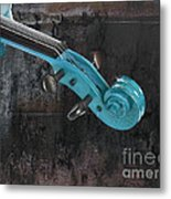 Violinelle - Turquoise 05a2 Metal Print