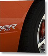 Viper Srt 10 Emblem And Wheel Metal Print