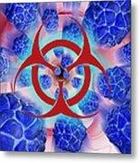 Viral Pathogens, Conceptual Artwork Metal Print