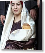 Virgin Mary And Baby Jesus At 4th Annual Christmas March Metal Print