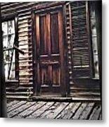 Virginia City Ghost Town Door I Metal Print