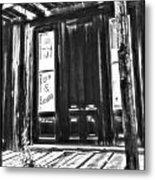 Virginia City Ghost Town Door II Metal Print