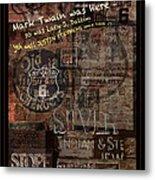 Virginia City Nevada Grunge Poster Metal Print