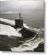 Virginia-class Attack Submarine Metal Print by Stocktrek Images