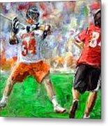 College Lacrosse 10 Metal Print
