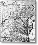 Virginia: Map, C1784 Metal Print