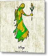 Virgo Artwork Metal Print
