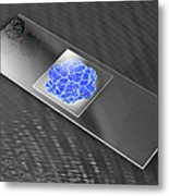 Virus On Microscope Slide Metal Print by Laguna Design