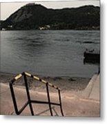 Visegrad Hill With Danube Metal Print